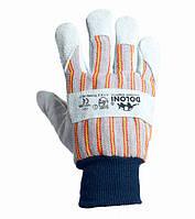 Рабочие перчатки комбинированные термостойкие Спилок + Ткань Doloni 4504