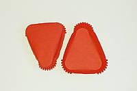 Треугольная бумажная форма, красная