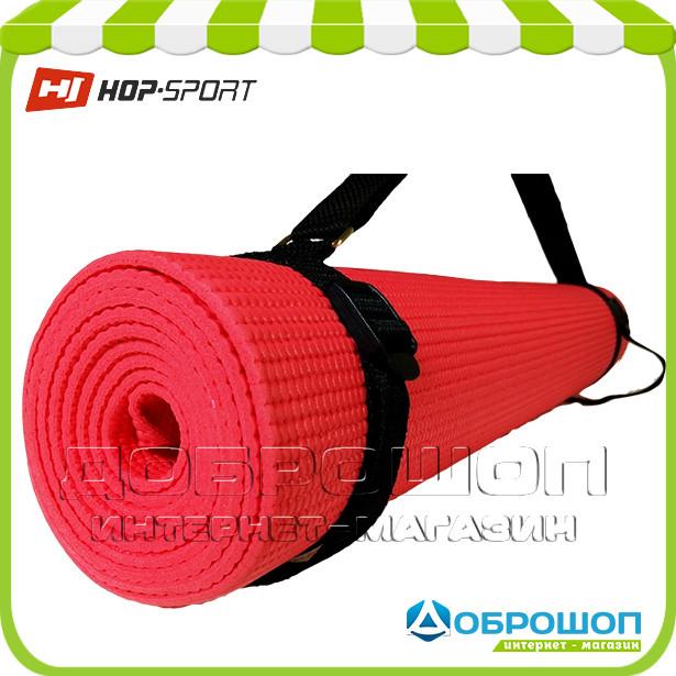 Коврик для йоги и фитнеса PVC HOP-SPORT 4мм, красный