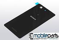 Задняя панель корпуса (крышка) для Sony D5803 | D5833 Xperia Z3 Compact Mini (Качество ААА) (Черная)