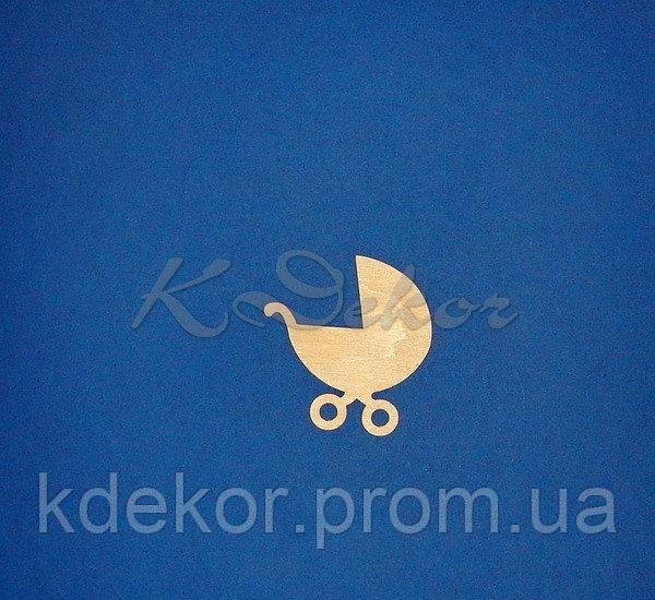 Коляска (фанера 4мм.) заготівля для декупажу та декору