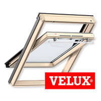 Мансардное окно Velux Optima линия Стандарт 55*78 см , ручка сверху + оклад
