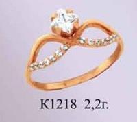 Женское золотое кольцо для девушки Афина