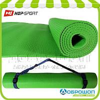 Коврик для йоги и фитнеса PVC HOP-SPORT 4мм, зеленый