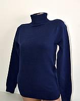 Гольф Many&Many тёплый для девочки-подростка, цвет тёмно-синий.