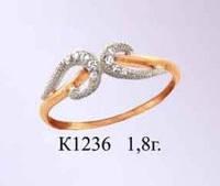 Женское золотое кольцо для девушки Ольвия