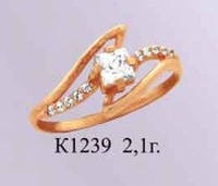 Женское золотое кольцо для девушки Деметра
