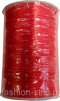 Шнур атласный красный (3мм толщ) 100м в рул