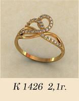 Женское золотое кольцо для девушки Гера