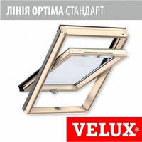 Мансардное окно Velux Optima линия стандарт 55*78 см, ручка снизу + оклад
