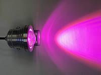 Светодиодный линзованный фитопрожектор SL-10-12F 10W 12V IP65 хром (full spectrum led) Код.58944