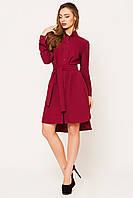 Платье женское Евгения бордовый