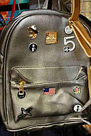 Симпатичный женский рюкзак в бронзовом цвете
