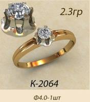 Женское золотое кольцо для девушки Фанагория