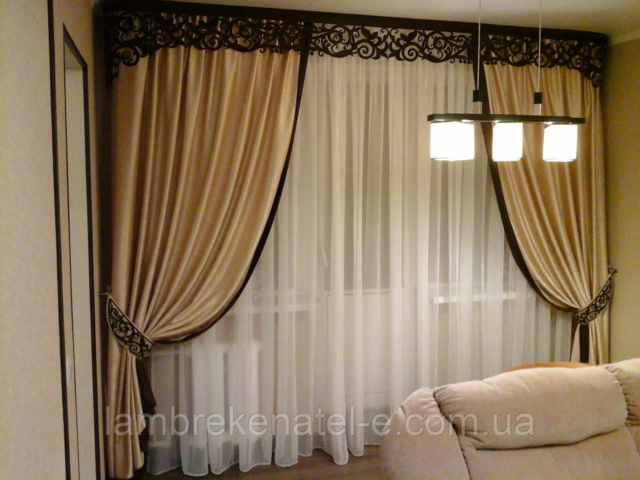 Пошив плотных штор