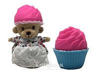 Мягкая игрушка серии Ароматные капкейки - Милые Медвежата (Клубничный мусс, с ароматом клубники)