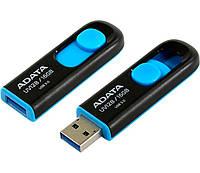Флешка USB 3.0 16Gb A-DATA UV128 Black-Blue / AUV128-16G-RBE