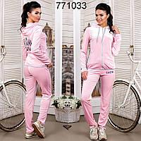 Женский спортивный костюм из стрейч-велюра F   Розовый, фото 1
