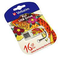 Флешка 16Gb Verbatim Store'N'Go Mini Tattoo Koi / 49886
