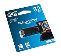 Флешка 32Gb Goodram Twister/ Black/Silver / 17/9Mbps  / UTS2-0320K0R11