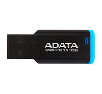 Флешка 32Gb A-Data UV140 Retail Black-Blue / AUV140-32G-RBE