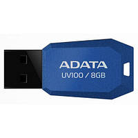 Флешка 8Gb A-DATA UV100 Slim Bevelled Blue / AUV100-8G-RBL