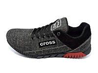 Мужские кроссовки лето текстиль Cross Fit 39 Black  Наличии размера: 40  41  43  44  45
