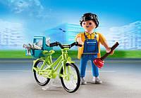 Разнорабочий с велосипедом Playmobil