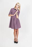 Женское платье с клетчатым воротничком П140