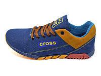 Мужские кроссовки лето текстиль Cross Fit 39 Blue Redhead р: 41 42