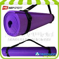 Коврик для йоги и фитнеса PVC HOP-SPORT 5мм, фиолетовый