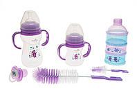 Подарочный набор для кормления детей bayby bgs6202 фиолетовый