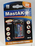 Акб крона MastAK 6F22/1bl 350 mAh  7,4V Li-Ion