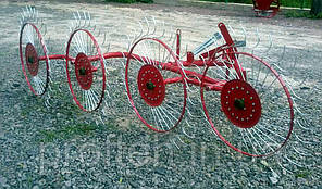Грабли-ворошилки 4-х колёсные Biardzki  (Польша, спица оцинкованная, Ø6 мм)