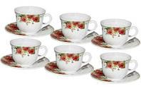 """Набор чашек для чая """"Роза"""" 190мл на 6 персон"""