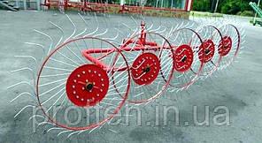 Грабли-ворошилки 5-ти колёсные Biardzki  (Польша, спица оцинкованная, Ø6 мм)