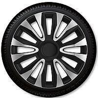 Колпаки на колеса r15 Avalon Carbon Silver Black Racing4