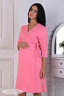 Халат для вагітних і годування Sinty NW-4.1.2, з щільного бавовняного трикотажу, рожевий, фото 1