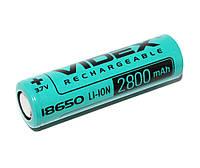 Аккумулятор 18650, 2800 mAh, Videx, 1 шт, Li-ion, Bulk, перезаряжаемая батарейка