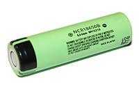 Перезаряжаемая батарейка (аккумулятор) 18650, 3400 mAh, Panasonic, 1 шт, Li-Ion, 6.8A, 4.2/3.6/2.5V (NCR18650B