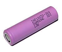 Перезаряжаемая батарейка (аккумулятор) 18650, 3000 mAh, Samsung 30Q, 1 шт, Li-Ion, 15A, 4.2/3.6/2.5V (INR18650-30Q)