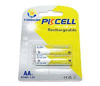 Перезаряжаемая батарейка (аккумулятор) AA, 1300 mAh, PKCELL, 2 шт, Pre-charged, 1.2V, Blister