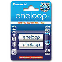 Перезаряжаемая батарейка (аккумулятор) AA, 1900 mAh, Panasonic Eneloop, 2 шт, 1.2V, Blister, ресурс - 2100 циклов заряда! (BK-3MCCE/2BE)