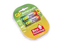 Перезаряжаемая батарейка (аккумулятор) AA, 2100 mAh, GP, 2 шт, 1.2V, Blister (GP210AAHC-2UEC2)