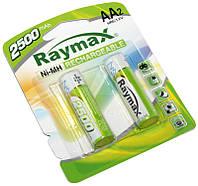 Перезаряжаемая батарейка (аккумулятор) AA, 2500 mAh, Raymax, 2 шт, 1.2V, Blister