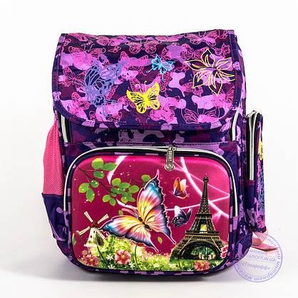 Школьный рюкзак для девочки с жесткой спинкой и 3Д рисунком - фиолетовый - 125, фото 2