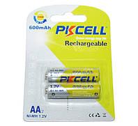 Перезаряжаемая батарейка (аккумулятор) AA, 600 mAh, PKCELL, 2 шт, 1.2V, Already Charged, Blister