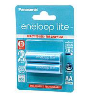 Перезаряжаемая батарейка (аккумулятор) AA, 950 mAh, Panasonic Eneloop Lite, 2 шт, 1.2V, Blister, ресурс - 3000 циклов заряда! (BK-3LCCE/2BE)