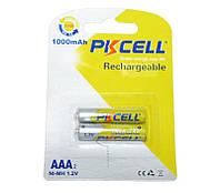 Перезаряжаемая батарейка (аккумулятор) AAA, 1000 mAh, PKCELL, 2 шт,  Already Charged, 1.2V, Blister