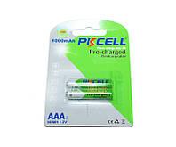 Перезаряжаемая батарейка (аккумулятор) AAA, 1000 mAh, PKCELL, 2 шт, 1.2V, Pre-charged, Blister (546050)
